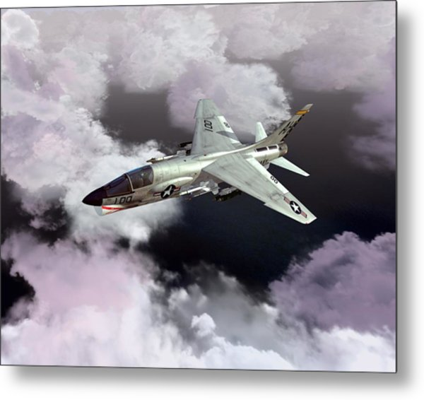F-8e At Kilo Marshall Metal Print
