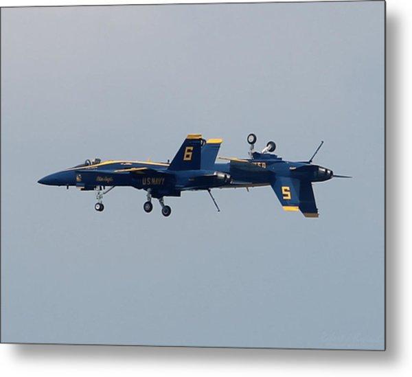 F/a 18 Hornet In Tandem Metal Print