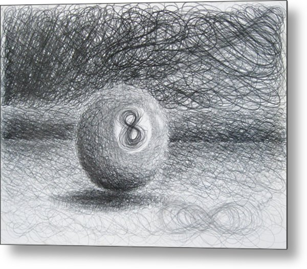 F. Eight Ball No. 2 Metal Print