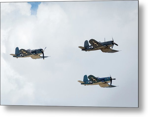 F4u Corsair Metal Print by Brian Knott Photography