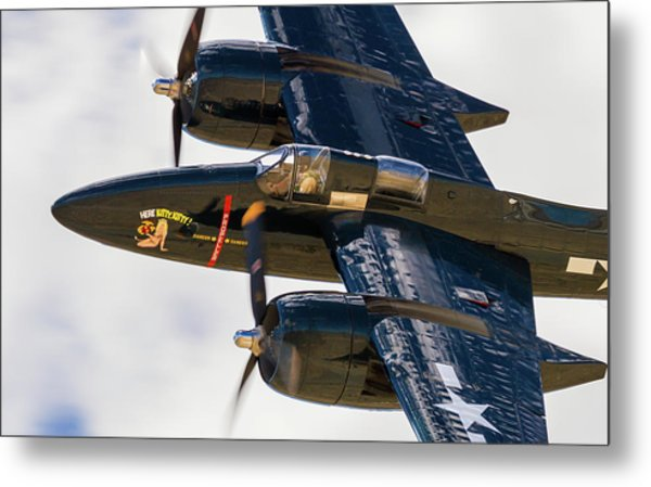 F7f Tigercat Here Kitty, Kitty Metal Print