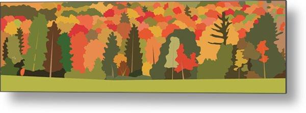 Fall Forest Metal Print by Marian Federspiel