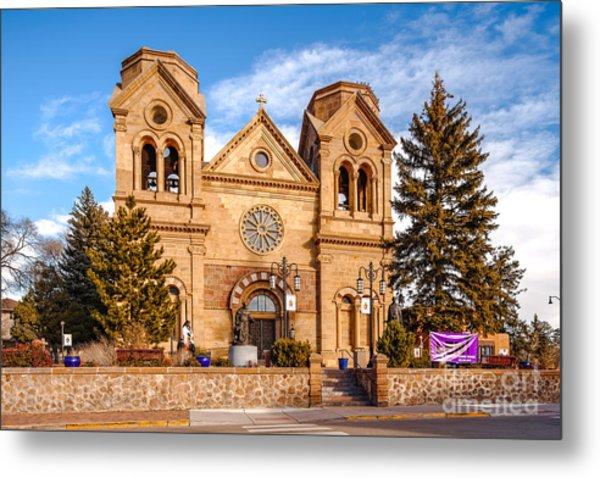 Facade Of Cathedral Basilica Of Saint Francis Of Assisi - Santa Fe New Mexico Metal Print
