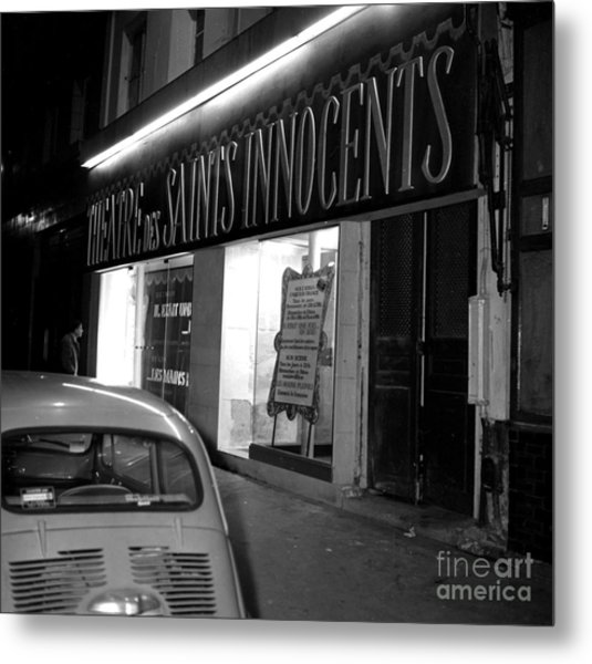 Facade Of The Theatre Des Saints Innocents, Paris, 1971 Metal Print