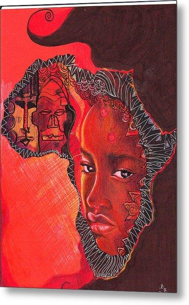 Face Of Africa Metal Print