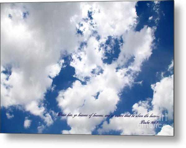 Face Of God Breath Of Life Metal Print