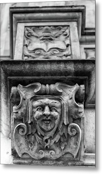 Face Of London Metal Print