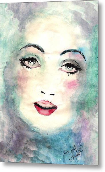 Face Upon The Water Metal Print by Scarlett Royal