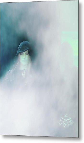 Face Metal Print by Viktor Savchenko