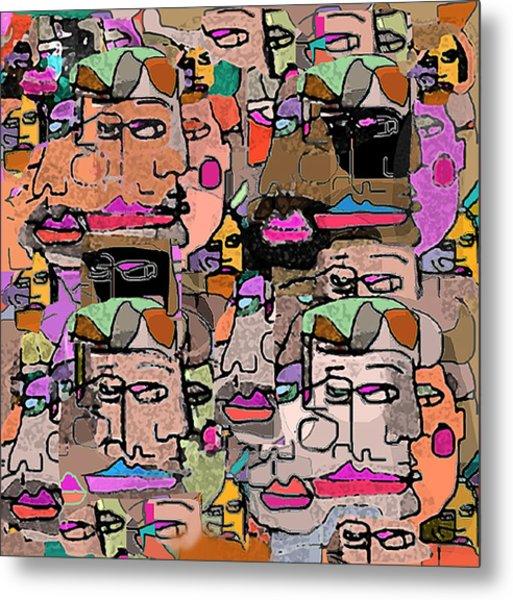 Faces Metal Print