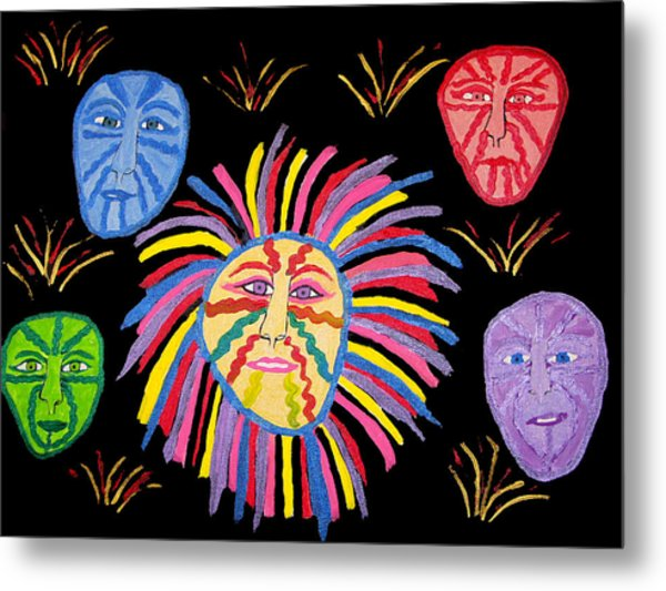 Faces Out Of The Dark  Metal Print by Betty  Roberts