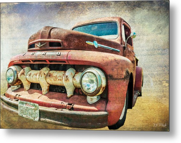 Faded Ford Metal Print by Tom Pickering of Photopicks Photography and Art