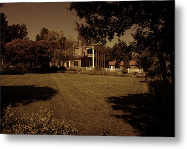 Metal Print featuring the photograph Fading Glory - The Hermitage by James L Bartlett