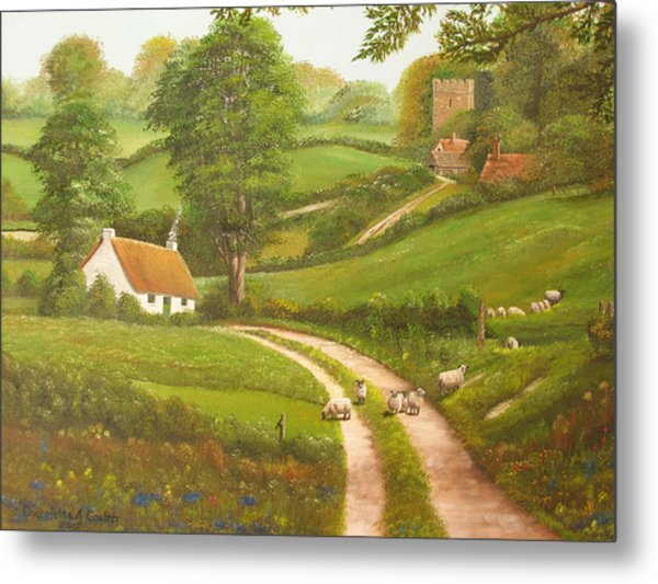 Failte Romhat  Welcome Metal Print by Charolette A Coulter