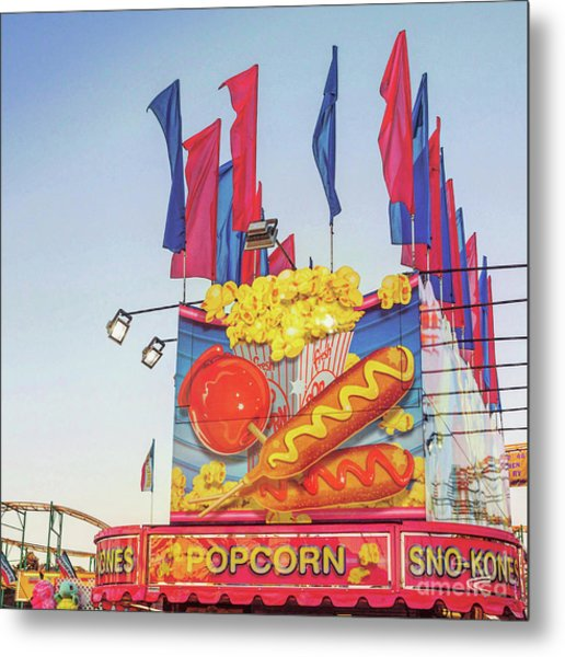 Metal Print featuring the photograph Fair Food by Cindy Garber Iverson