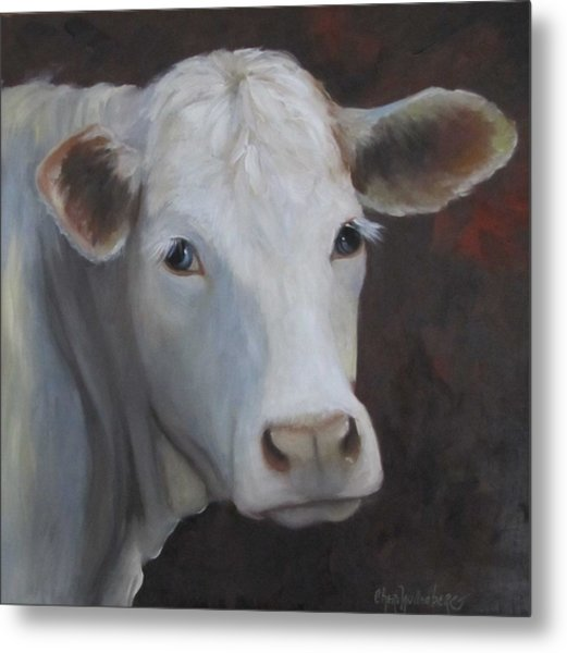 Fair Lady Cow Painting Metal Print