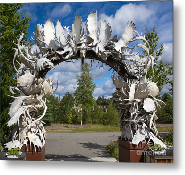 Fairbanks Arch Metal Print