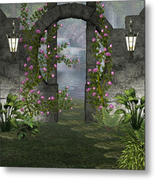 Fairies Door Metal Print