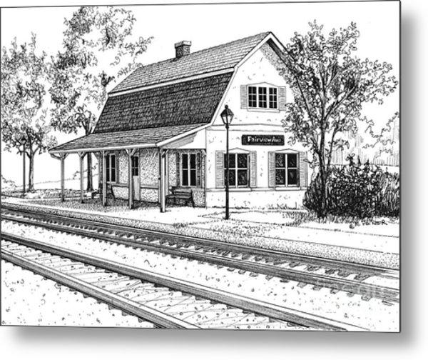 Fairview Ave Train Station Metal Print