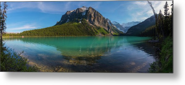 Metal Print featuring the photograph Fairview Mountain On Lake Louise by Owen Weber