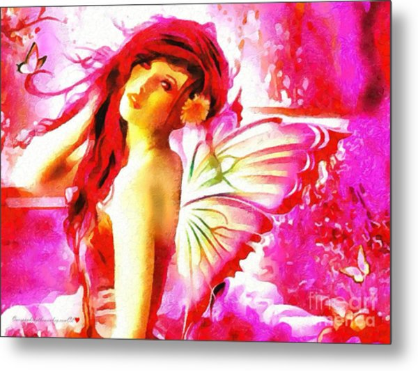 Fairy Angel In The Mix In Thick Paint Metal Print