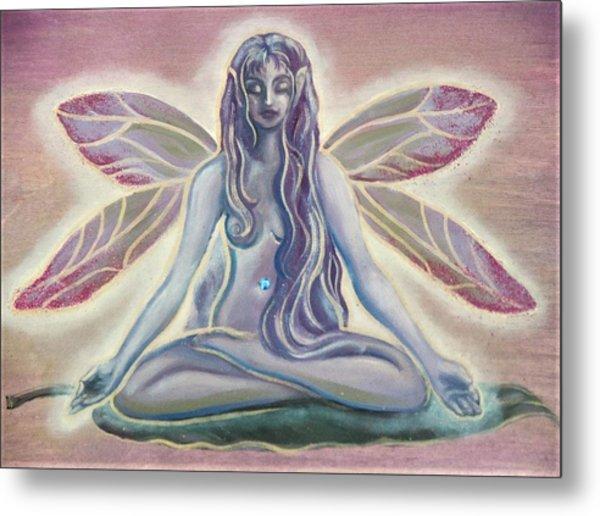Fairy Doing Yoga Metal Print