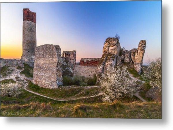 Fairy Tale Castle Remnants Metal Print
