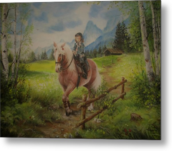 Fairy Tale In The Alps Metal Print