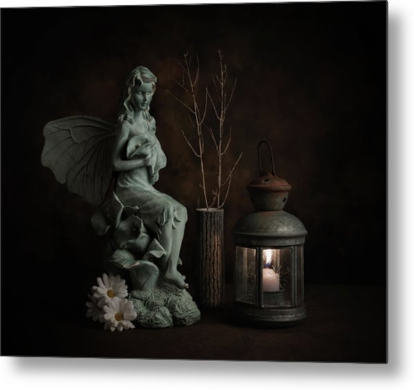 Fairy With Lilies Metal Print