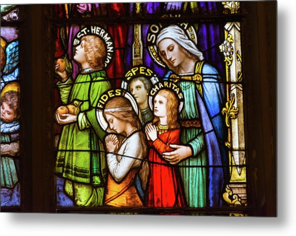 Faith, Hope, And Charity Metal Print