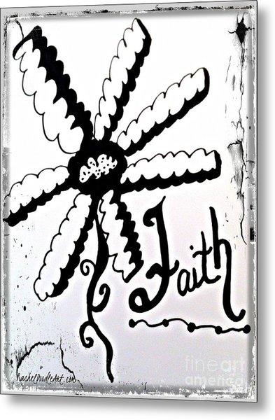 Metal Print featuring the drawing Faith by Rachel Maynard