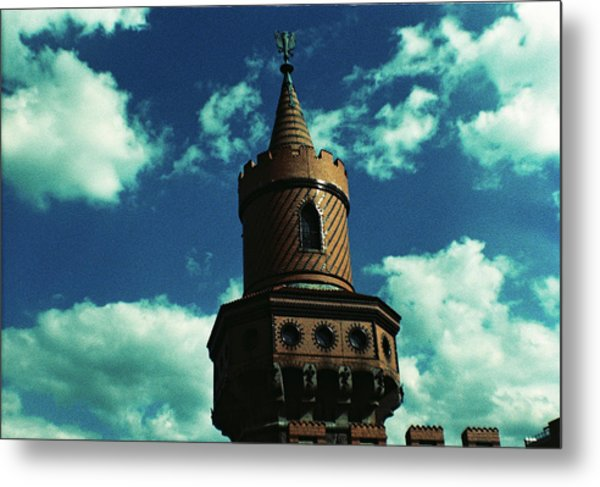 Fake German Castle Or Oberbaumbruecke Metal Print
