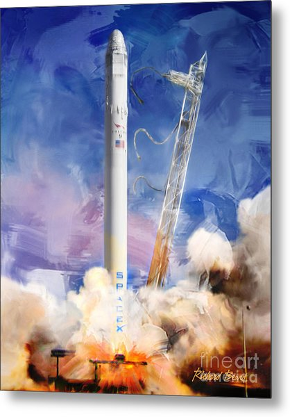 Falcon 9 Liftoff Metal Print