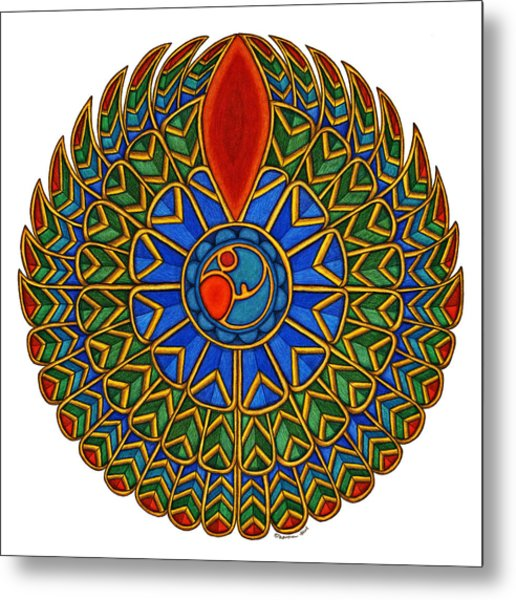 Falcon Metal Print by Maureen Frank The Mandala Lady