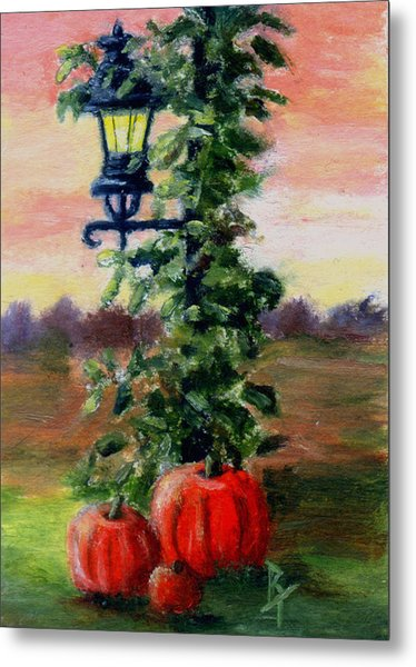 Fall Aceo Metal Print by Brenda Thour