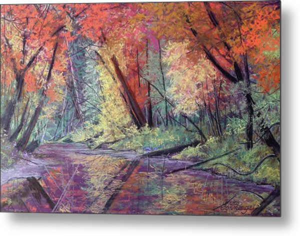 Fall Along The River Metal Print