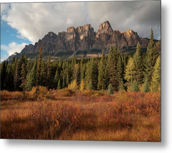 Fall At Castle Mountain Metal Print