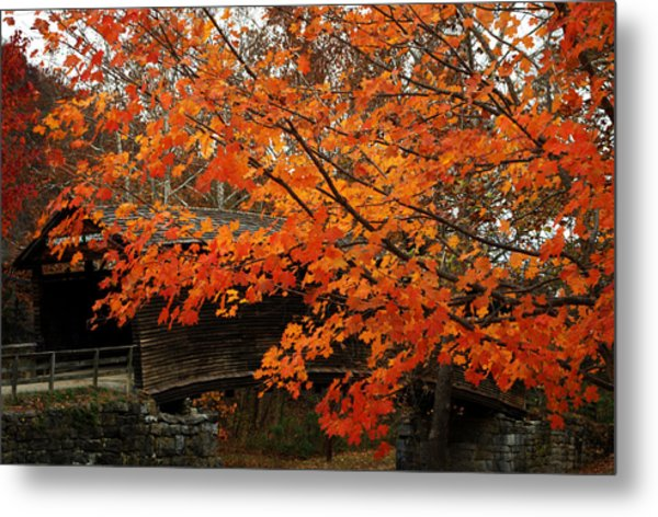 Fall At Humpback Bridge Metal Print
