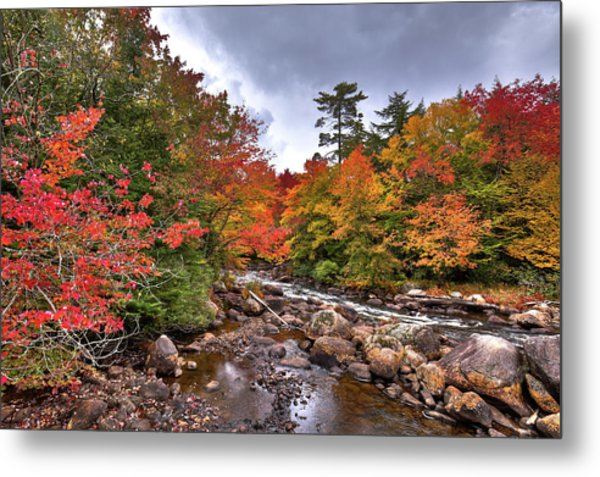 Metal Print featuring the photograph Fall At Indian Rapids by David Patterson