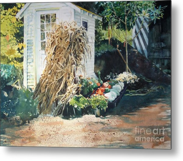 Fall At Ivy Corners Metal Print