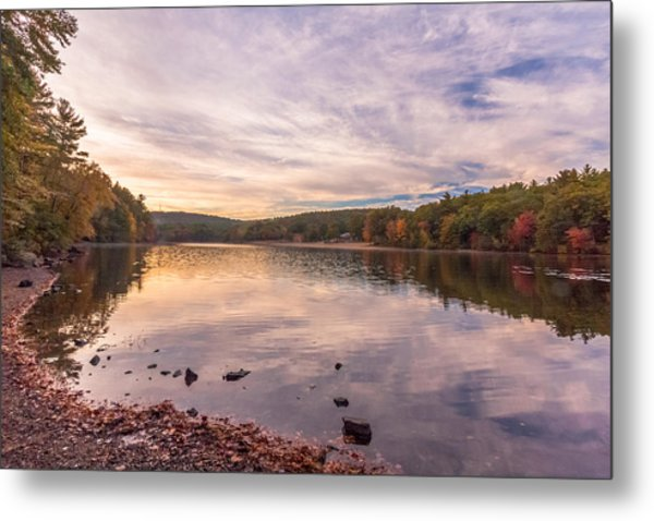 Fall At The Pond Metal Print