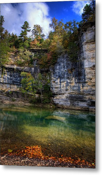 Fall Bluff At Ozark Campground Metal Print
