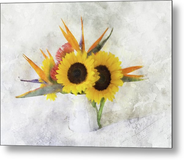 Metal Print featuring the digital art Fall Bouquet by Sue Collura