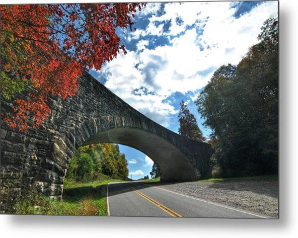 Fall Bridge Metal Print