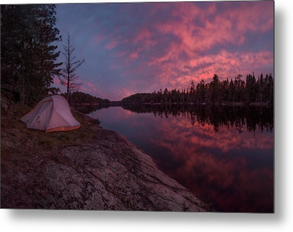 Metal Print featuring the photograph Fall Camping // Bwca, Minnesota  by Nicholas Parker