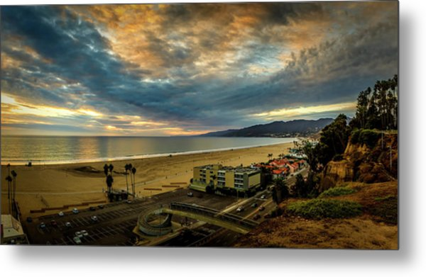 Fall Clouds Over The Bay Metal Print