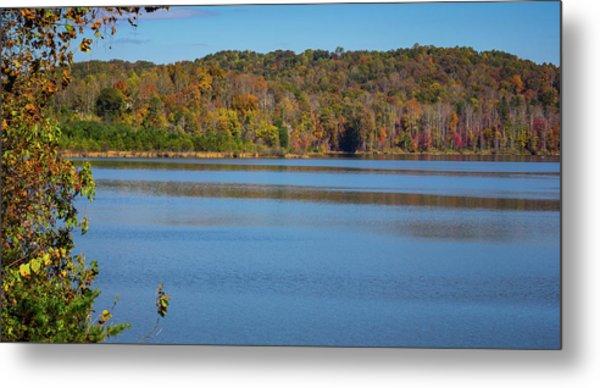 Fall Color At Lake Zwerner Metal Print