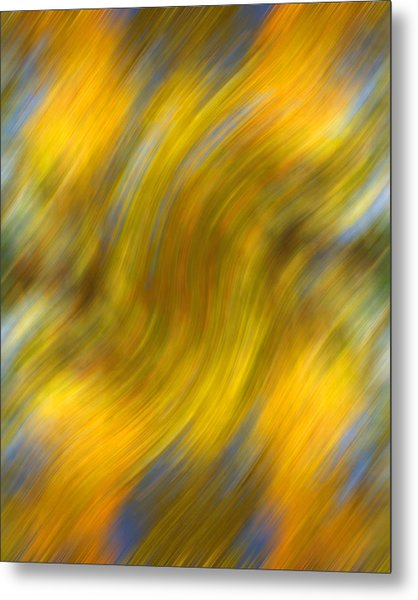 Fall Colors Abstract Metal Print