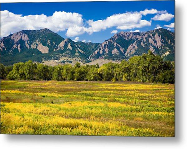 Fall Colors Of Boulder Colorado Metal Print