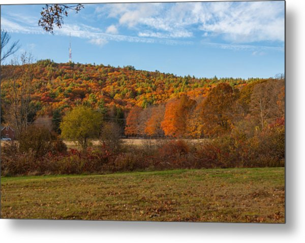 Fall Colors On Great Blue Hill Metal Print